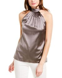 Ramy Brook Lori Silk-blend Top - Grey