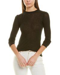 Vince Ribbed Wool-blend Top - Black