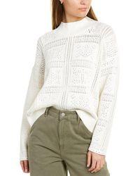 Club Monaco Pointelle Sweater - White