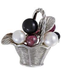 Van Cleef & Arpels Vintage Van Cleef & Arpels 18k Gemstone Brooch - Multicolor