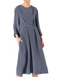 Tibi Silk Dress - Gray