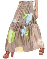 Cynthia Rowley Ashley Pop Floral Silk Skirt - Multicolour