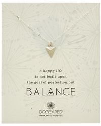 Dogeared - Balance Silver Pyramid Necklace - Lyst