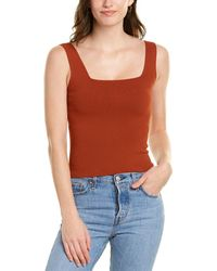 Vince Square Neck Tank - Brown