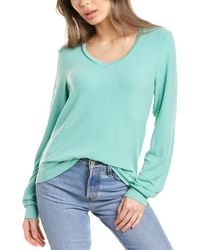 Wildfox Baggy Beach V-neck Sweater - Blue