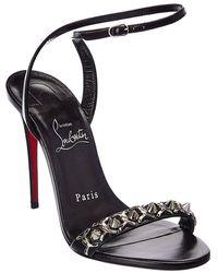 Christian Louboutin Loubigirl Chain 100 Leather Sandal - Black