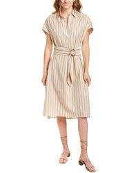 French Connection Verve Linen-blend Midi Dress - Brown
