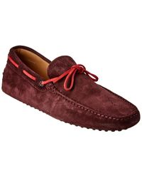 Tod's Gommino Suede Loafer - Purple