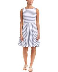 Three Dots - Stripe A-line Dress - Lyst