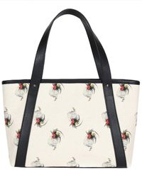 NEELY & CHLOE The Chicken Print Leather Travel Tote - Black
