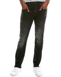 R13 Skate Conray Indigo Slim Straight Leg Jean - Black