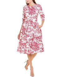 Samantha Sung Florance Midi Dress - Pink