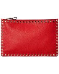 Valentino Garavani - Rockstud Leather Pouch - Lyst