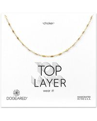 Dogeared 14k Over Silver Choker Necklace - Metallic