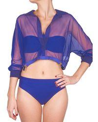 Shan Mia Pretaporter Cover-up Top - Blue
