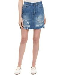 The Fifth Label Label Distressed Skirt - Blue