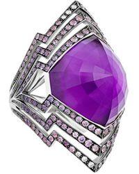 Stephen Webster Lady Stardust 18k 1.86 Ct. Tw. Diamond & Sapphire Ring - Purple