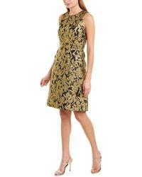 Michael Kors Button-pocket Crewneck Sheath Dress - Black