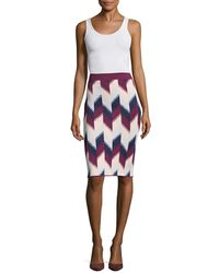 BCBGMAXAZRIA Leger Knit Jumper Skirt - Multicolour