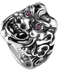 Stephen Webster Men's Silver Ruby Ring - Metallic