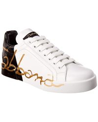 Dolce & Gabbana Leather Sneakers - White