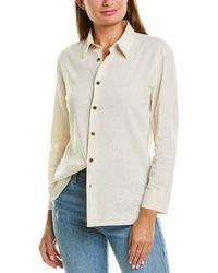 Solid & Striped Button-down Linen-blend Shirt - Multicolour