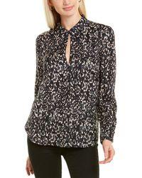 ecru Roberts Silk-blend Shirt - Black