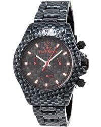 Toy Watch Unisex Imprint Only Time Watch - Black