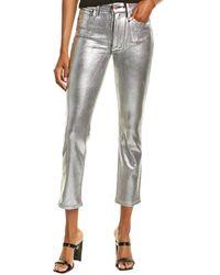 Joe's Jeans Joes Jeans The Luna Silver Cigarette Ankle Cut Jean - Metallic