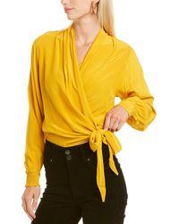 Summum Wrap Blouse - Yellow