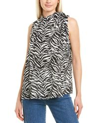 Vince Camuto - Animal Impression Top - Lyst