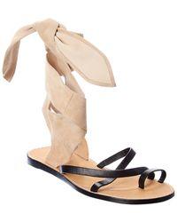 IRO Taina Leather & Suede Sandal - Black