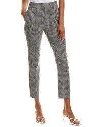 Diane von Furstenberg Sienna Stretch-jacquard Straight-leg Pants - Black
