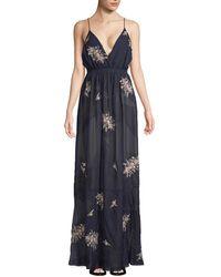 Haute Hippie Long Dress - Blue