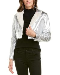BCBGMAXAZRIA Maxazria Metallic Woven Jacket - Grey