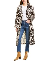 Kendall + Kylie Canvas Trench Coat - Brown