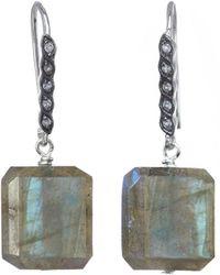 Margo Morrison New York Silver Gemstone Drop Earrings - Multicolour