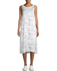 Kenneth Cole Linen-lined Tank Dress - White