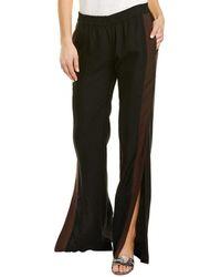 St. Roche Indira Wide Leg Linen-blend Pant - Black