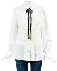 Gucci Ruffled Top (size It 40, Never Worn) - White