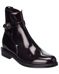Saint Laurent Army 20 Leather Boot - Black