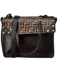 Fendi Flip Small Leather Shoulder Bag - Multicolour