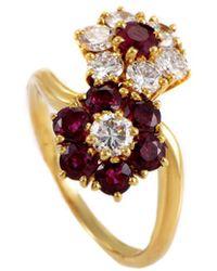 Heritage Van Cleef & Arpels - Van Cleef & Arpels 18k 2.00 Ct. Tw. Diamond & Ruby Ring - Lyst