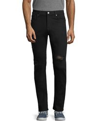 7 For All Mankind - 7 For All Mankind Slimmy Total Black 2 Slim Straight Leg - Lyst