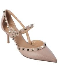 Valentino Garavani Rockstud 65 Leather Pump - Brown