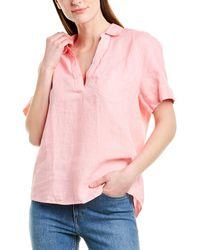 J.Crew Beauchamps Linen Popover - Pink