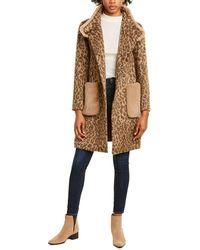 Cinzia Rocca Plush Wool-blend Coat - Brown