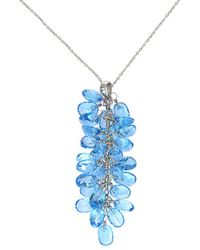 Effy - Fine Jewelry 14k 27.55 Ct. Tw. Blue Topatz Necklace - Lyst