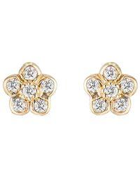 Ariana Rabbani - 14k 0.11 Ct. Tw. Diamond Flower Studs - Lyst
