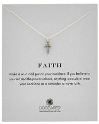 Dogeared - Silver Gothic Cross Necklace - Lyst